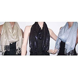 Symphony Designs Metallic Shawls (Set of 3)