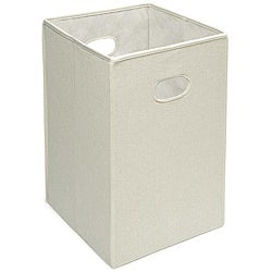 Badger Basket Ecru Folding Hamper and Storage Bin