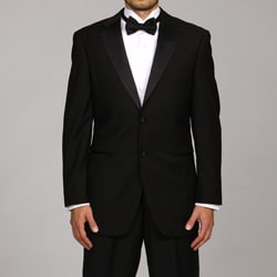 Caravelli Italy Men's Black 2-Button Tuxedo