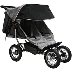 BeBeLove Double Jogging Stroller in Grey