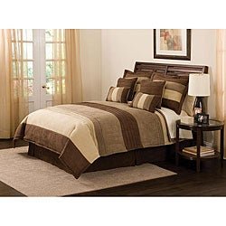 Peyton Place Chocolate 8-piece Comforter Set