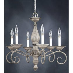 Monterrey 6-light Fresco Stone Chandelier