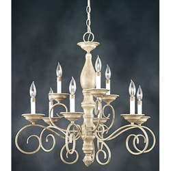 Monterrey 9-light Two-tier Fresco Stone Chandelier