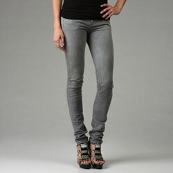 Elegant  Trousers Jeans Item Description Womens Grey Black Tartan Skinny Jeans