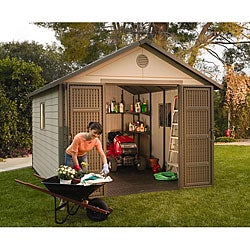Lifetime Outdoor Storage Shed (11&#39; x 13.5&#39;)