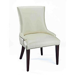 Becca Cream Leather Dining Chair.