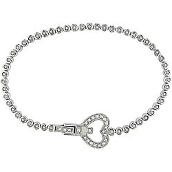Sterling Silver 1ct TDW Diamond Tennis Bracelet (I-J, I3)