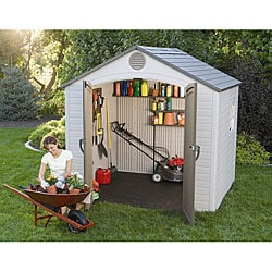 Lifetime Outdoor Storage Shed (8&#39; x 7.5&#39;)