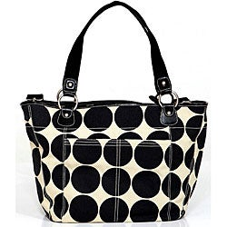 OiOi Sand Dot Shopper Tote Diaper Bag