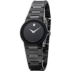 Movado Women's Safiro Black PVD Stainless Steel Watch