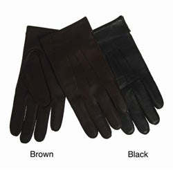Portolano Men's Nappa Leather Cashmere-lined Gloves