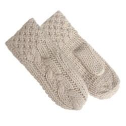 Portolano Women's Cable Knit Mittens