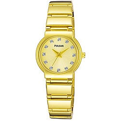 Pulsar Women's PTC426 Crystal Goldplated Watch