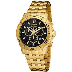 Invicta Men's Pro Diver 18k Goldplated Chronograph Watch