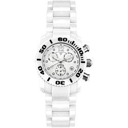 Swiss Legend Women's White Ceramic Chronograph Watch