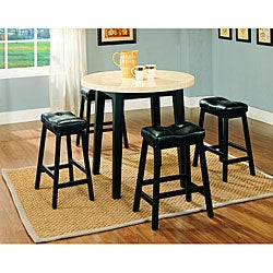 Furniture of America Lorelay 5-piece Faux Marble Pub Set
