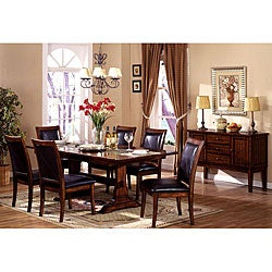 Furniture of America Lucerne Rectangular Butterfly Leaf 7-piece Dining Set