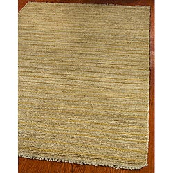 Hand-knotted All-Natural Sunrise Beige Hemp Runner (2'6 x 8')