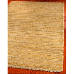 Hand-knotted All-Natural Sunrise Beige Hemp Rug (6' x 9')