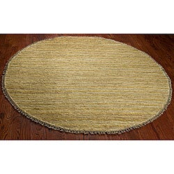 Safavieh Hand-knotted All-Natural Sunrise Beige Hemp Rug (6' Round)