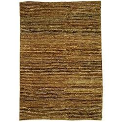 Safavieh Hand-knotted All-Natural Horizons Gold Hemp Runner (2'6 x 12')