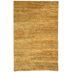 Hand-knotted All-Natural Hayfield Beige Hemp Rug (3' x 5')