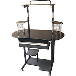 Sparkle Top Black Computer Cart