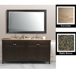 Dark Espresso 72-inch Double-sink Bathroom Vanity