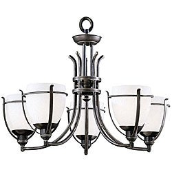 Regency 5-light Black Pewter Chandelier