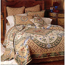 Savonnerie Full-size 2-piece Tapestry Coverlet Set