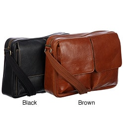 Amerileather Dual Flap Leather Briefcase