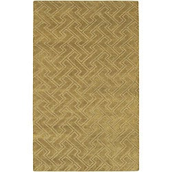 Hand-knotted Livno Basketweave Pattern Wool Rug (9' x 13')