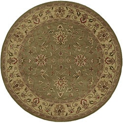 Hand-tufted Camelot Green Wool Rug (8' Round)