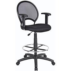 Boss Mesh Adjustable-arm Drafting Stool