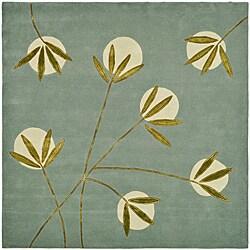 Safavieh Contemporary Handmade Soho Blue New Zealand Wool Rug (6' Square)