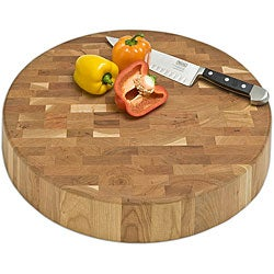 J.K. Adams End-grain Chunk Cutting Board (18-inch Round)
