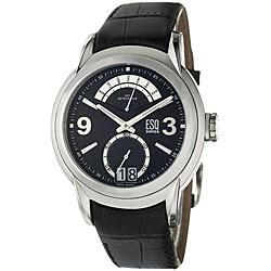 ESQ Men's 7301233 Quest Round Black Strap Watch