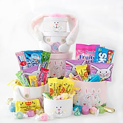 Happy Easter Bunny Treat Gift Tower.