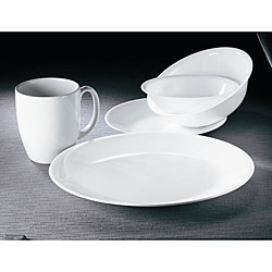 Corelle 'Winter Frost White' 30-piece Vitrelle Dinnerware Set