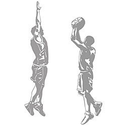 Basketball Jumpshot and Blocker Sudden Shadows Wall Decal