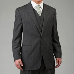 Lauren by Ralph Lauren Men's 3-piece Grey Pinstripe Wool Suit