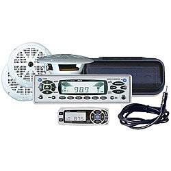 Pyle KTMR16SPCW In-cash Marine CD/MP3 Player and Speaker System