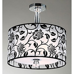 Floral 3-light 2-shade Chandelier