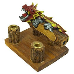 Dragon Carving Pen and Business Card Holder (Thailand)