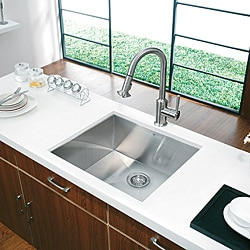 Vigo Undermount 23-inch Stainless Steel Kitchen Sink and Faucet