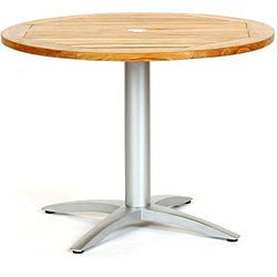 Infinity Teak Aluminum 40 Inch Round Dining Table 12647515