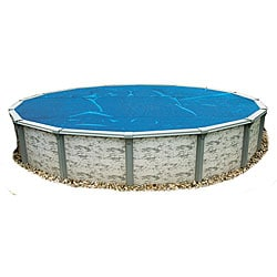 Swim Time 24 ft. Round 8-mil Solar Blanket for Above Ground Pools - Blue