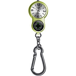 Dakota Women's 'E-Clip' Lime Green Carabiner Watch