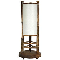 Japanese 19-inch Koru Bamboo Table Lamp (China)