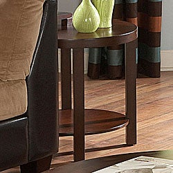 ETHAN HOME Baxter Warm Cherry Brown Casual End Table